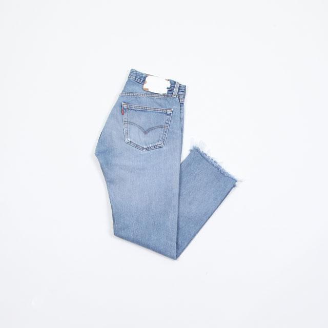 OLD PARK SLIT JEANS #Blue size:S [op-225]
