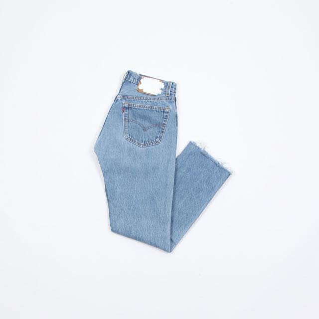 OLD PARK SLIT JEANS #Blue size:M [op-225]