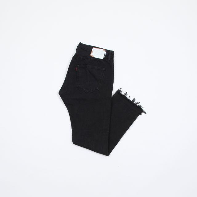 OLD PARK SLIT JEANS #Black size:L [op-225]