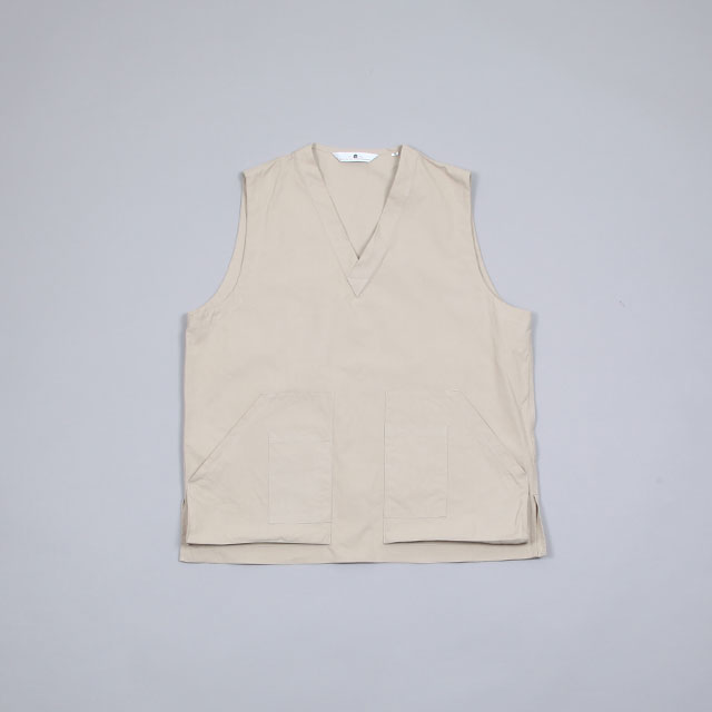 SILVER AND GOLD GENERAL MERCHANDISE Game Vest Beige Twill [SGGM-017-PO]