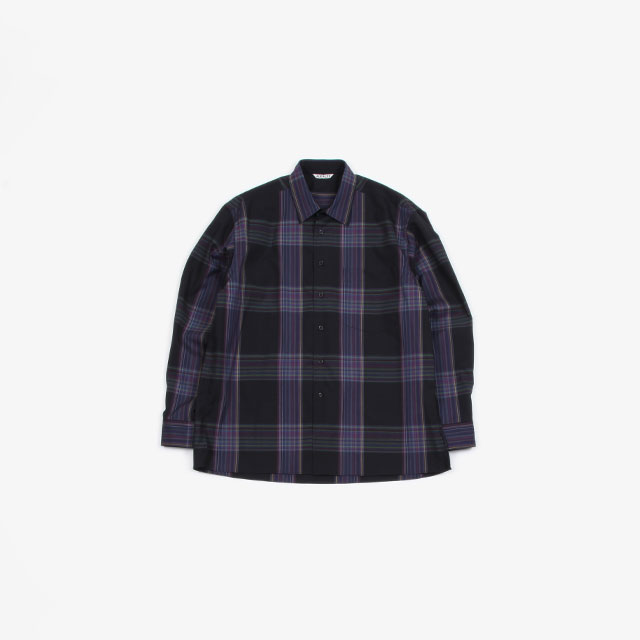 AURALEE SUPER LIGHT WOOL CHECK SHIRTS [A9AS01LC]