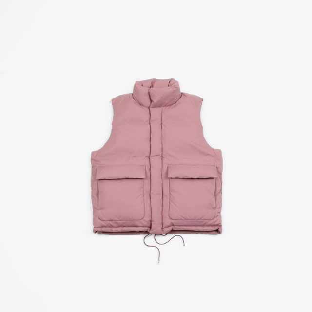 AURALEE LIGHT FIX POLYESTER DOWN VEST [A9AV02PW]