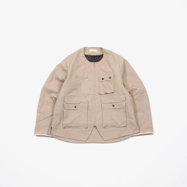 SUBTLE authentic Crew Neck Zip Jacket with 4pkt Boa Lining [SUBTLE-051]