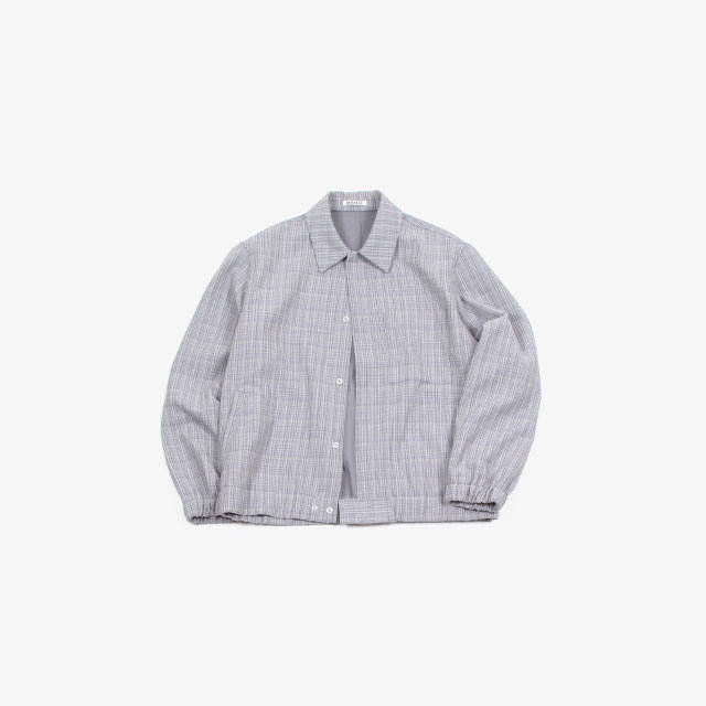 AURALEE HARD TWIST WOOL DOUBLE FACE CHECK BLOUSON [A20SB01WC]