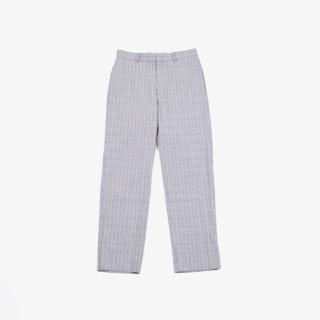 AURALEE HARD TWIST WOOL DOUBLE FACE CHECK SLACKS [A20SP02WC]