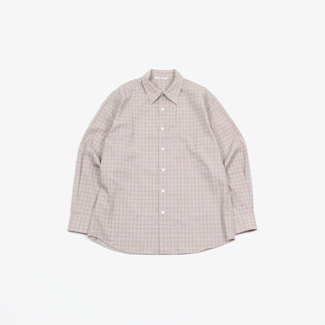 AURALEE SUPER LIGHT WOOL CHECK SHIRTS [A20SS01LC]