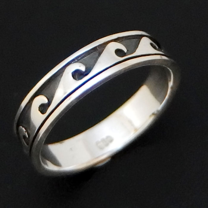 5mm Silver Wave Ring Silver Surfers