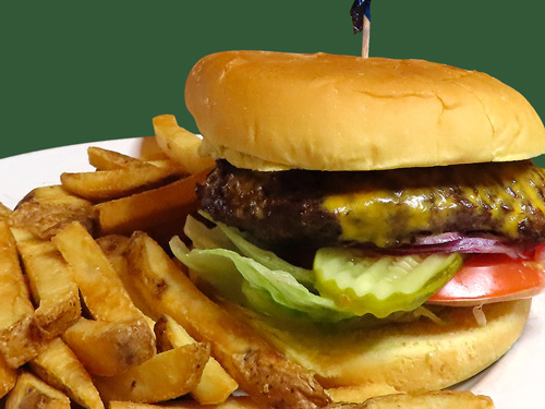 Photo of Old Fashioned Cheeseburger served with fries