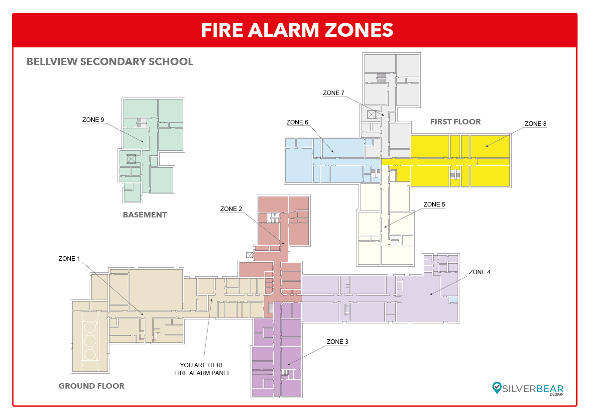 Fire alarm zone plan