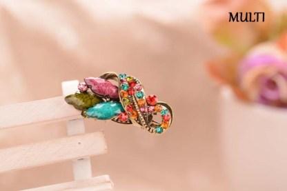 Multicolor Three Point Metal Mini Hair Clip