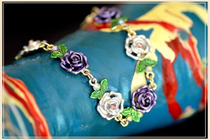 Painted Flower Metal Braclet Chain