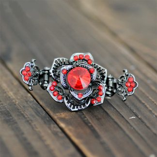 Main Rose Black Metal Hair Claw Clip