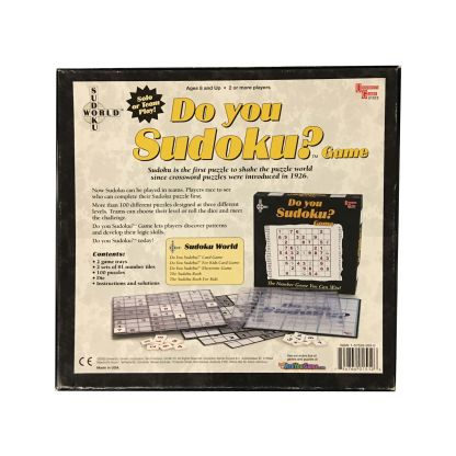 Do You Sudoku? board game back