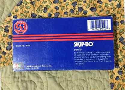 skip-bo card game box back