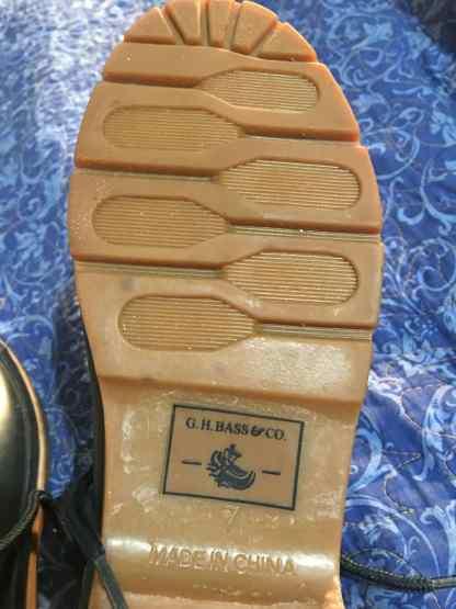 G H Bass & co rain shoes soles