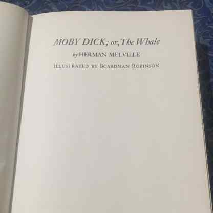 Moby Dick Title Page