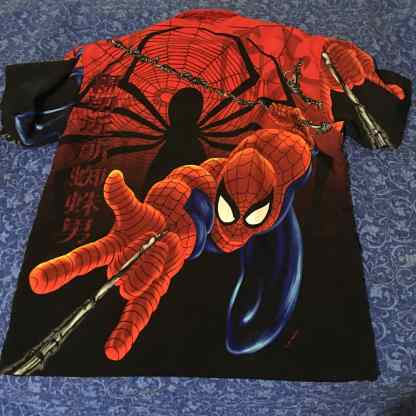 Spiderman Marvel Button Down Shirt 2001 back