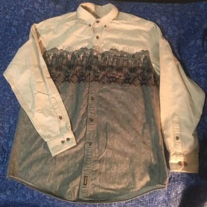 Woolrich Chamois Shirt Bear Patterns