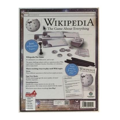 Wikipedia The Game board game back