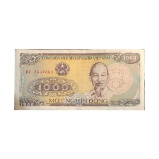 1,000 Dong Vietnamese Note Currency