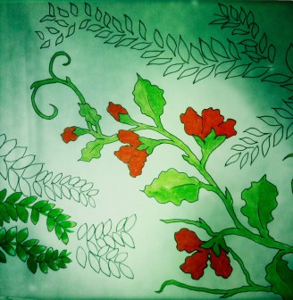 Vines - Copic marker on layout paper