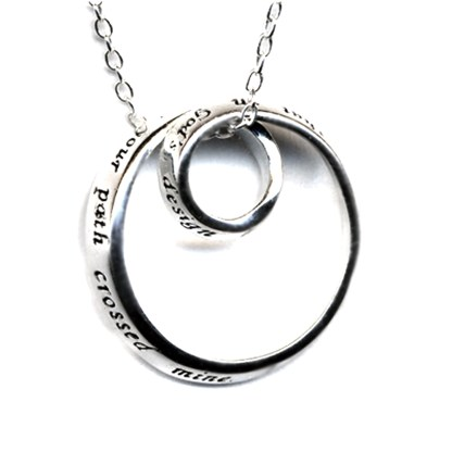 God's Blessed Friendship Infinity Circle Sterling Silver Charm Necklace Best Friend Gift