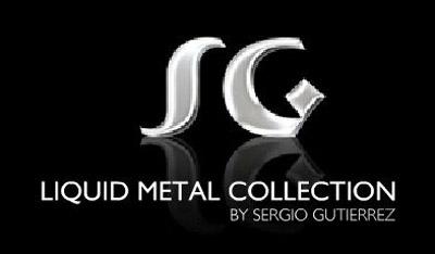 Sergio Gutierrez Liquid Metal Euroclutch Mesh Earrings