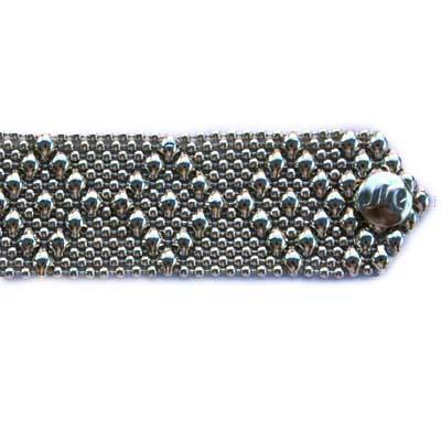 Sergio Gutierrez Liquid Metal Bracelet 8 Diamonds Pattern