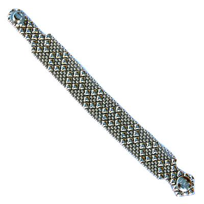 Sergio Gutierrez Liquid Metal Bracelet Small Diamond Pattern