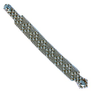 Sergio Gutierrez Liquid Metal Bracelet Small Diamond Pattern