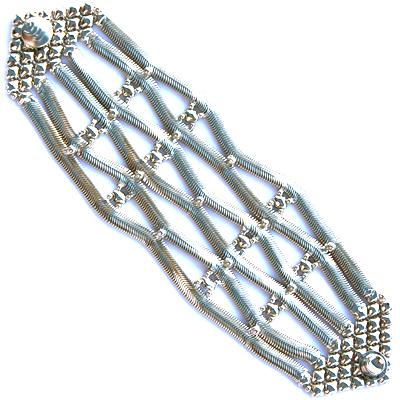 Sergio Gutierrez Liquid Metal Wide Snake Mesh Bracelet