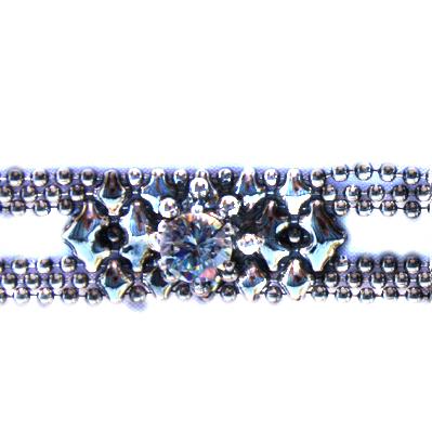 Sergio Gutierrez Liquid Metal Mesh CZ Prong Bracelet
