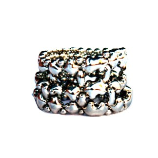 Sergio Gutierrez Liquid Metal Wide Open Mesh Band Ring