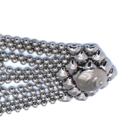 "Sergio Gutierrez Liquid Metal Bracelet Wide Butterfly Mesh, 6 3/4"""