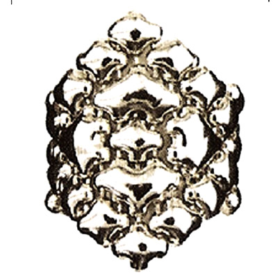 Sergio Gutierrez Liquid Metal Flexible Large Diamond Shape Cocktail Ring Sz8