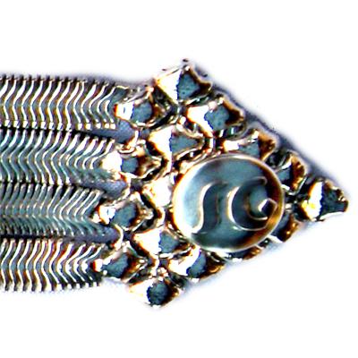 Sergio Gutierrez Liquid Metal Snake &  Mesh Bracelet