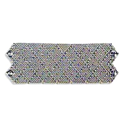 "Sergio Gutierrez Liquid Metal Extra Wide 2.75"" Diamond Pattern Cuff Bracelet fits 6""-6.5"""