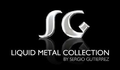 Sergio Gutierrez Liquid Metal Mesh Wide Flexible Band
