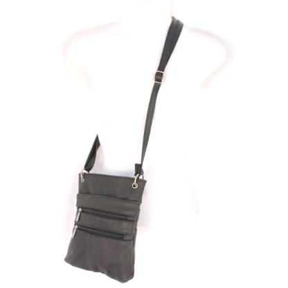 Genuine Leather Khaki Small Shoulder Cross Body Travel Mini Purse Bag