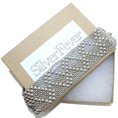 Sergio Gutierrez Liquid Metal Mesh Cuff Bracelet Zig Zag Pattern