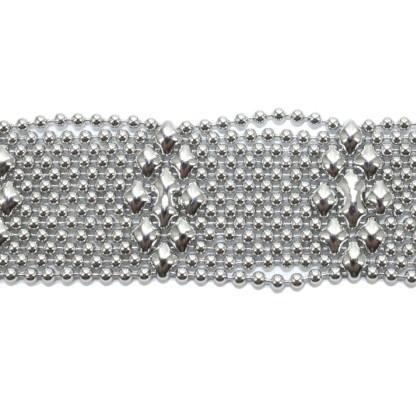 Sergio Gutierrez Liquid Metal Bracelet Tiny Ball Elongated Diamond Pattern TB34
