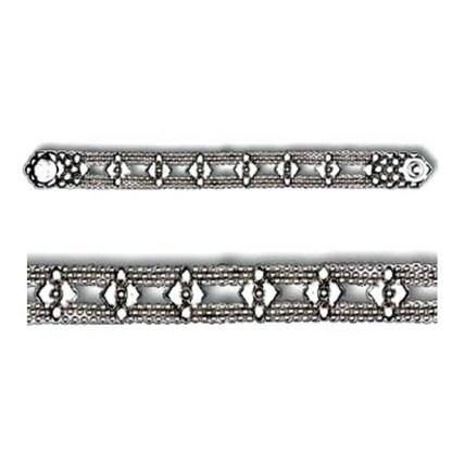 Sergio Gutierrez Liquid Metal Mesh Cuff Bracelet Diamond Pattern