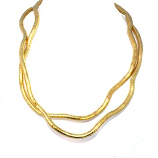 Make Your Own Necklace 6mm Flex Snake Gold PL Custom
