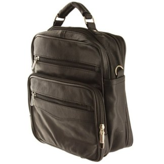 Large Shoulder Cross-Body Organizer Messenger Bag Black