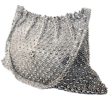 Sergio Gutierrez Liquid Metal Gathered Women's Evening Shoulder Handbag Purse