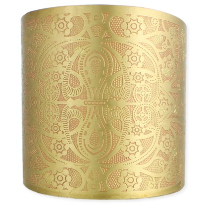Silver Fever® Wide Double Layer Metal Cuff Bracelet with Delicate Design