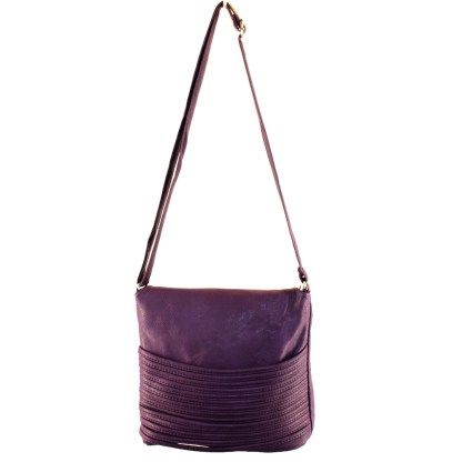 Flip Handle Wine Layered Strands Crossbody Messenger Bag