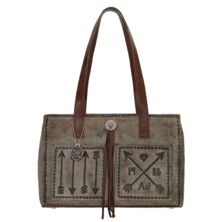 American West Cross My Heart Shopper tote with outside pocket