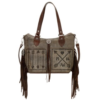 American West Cross My Heart Convertible zip top bucket tote
