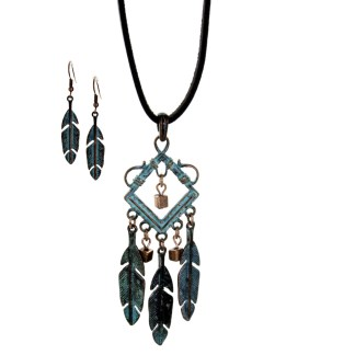 Silver Fever® Indian Feather Dream Catcher Silver Patina